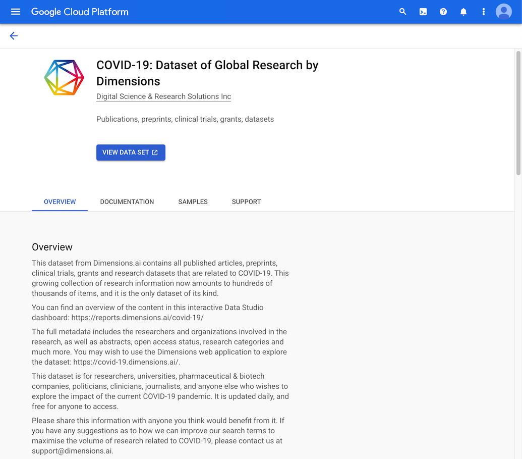 Building A Covid 19 Dashboard Using Google Data Studio Dimensions On Bigquery 1 0 0 Documentation